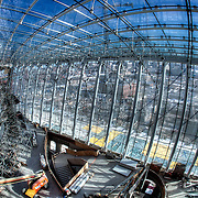 Construction Progress in the Grand Lobby of the Kauffman Center in January 2011.