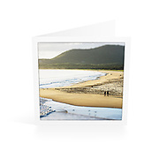 Photo Art Greeting Card | South West Rocks Collection | Morning Walk, Main Beach | Printed on lightly textured matte art paper stock, blank inside. White envelope included, packaged in sealed poly bag. Dimensions: Card 123 x 123mm. Envelope 130 x 130mm.<br />