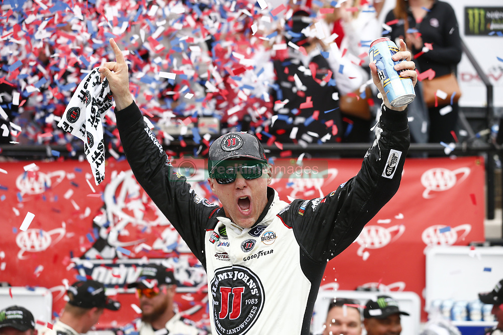May 6, 2018 - Dover, Delaware, U.S. - KEVIN HARVICK (4) celebrates after winning the NASCAR Monster Energy Cup Series: AAA 400 Drive for Autism, at Dover International Speedway. (Credit Image: © Justin R. Noe Asp Inc/ASP via ZUMA Wire)