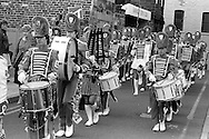 Carcroft Happy Wanderers Jazz Band. 1983 Yorkshire Miner's Gala. Barnsley