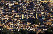 MOROCCO: Fes.Zaouia of Moulay Idriss and the Karouine Mosque mark the old centre of the medinah