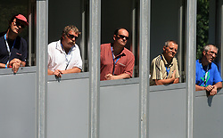 Judges at FIS Continental cup Ski-jumping Summer Kranj, on July 6, 2008, Kranj, Slovenia. (Photo by Vid Ponikvar / Sportal Images)<br /> <br /> / Sportida)