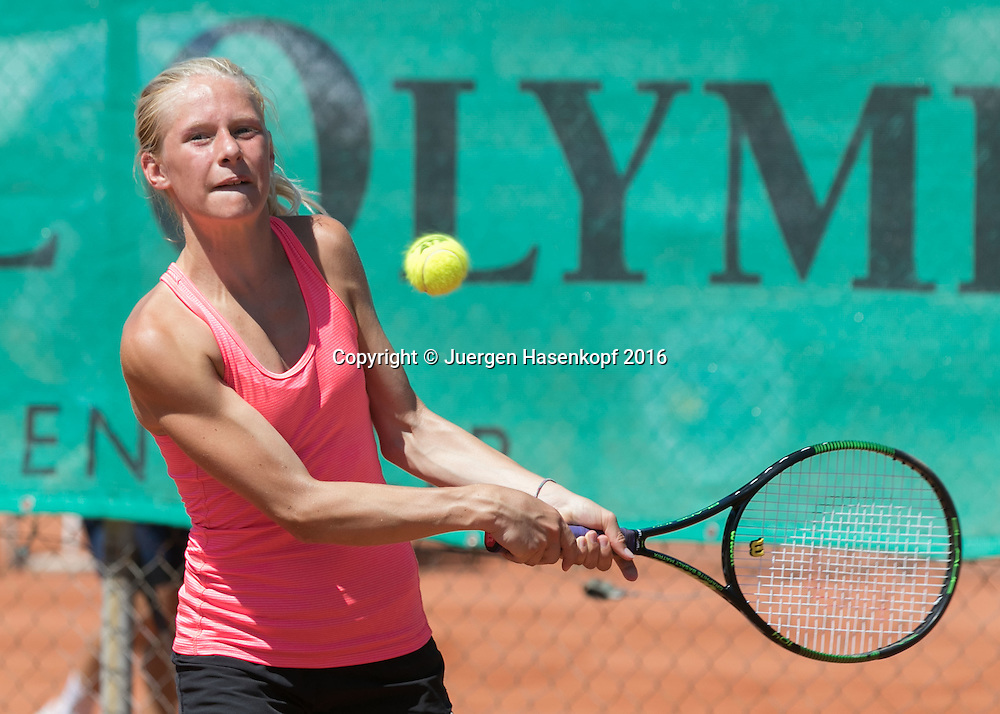 Tennis Europe-Bavarian Junior Open, Jana Vanik (GER)GS14<br /> <br /> Tennis - Bavarian Junior Open 2016 - Tennis Europe Junior Tour -  SC Eching - Eching - Bayern - Germany  - 8 August 2016. <br /> &copy; Juergen Hasenkopf
