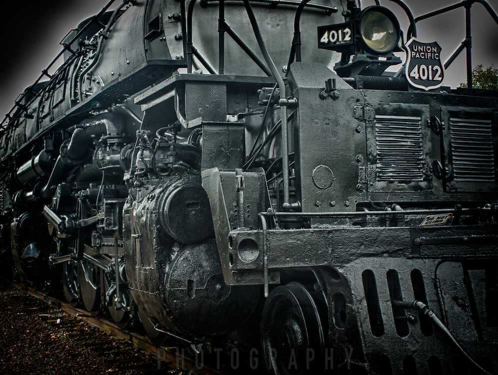"Retired steam locomotive, ""Big Boy"" at Steamtown, USA, National Park."