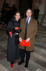 MR EDDIE EDMONSTONE and MISS DEBORAH BENNETT at Carols from Chelsea in aid of the Institute of Cancer Research at the Royal Hospital Chapel, Chelsea, London on 1st December 2005.<br />
