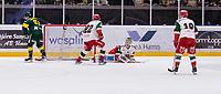 2019-12-02 | Umeå, Sweden:Björklöven (91) Justin Crandall score 3-0 to IF Björklöven in HockeyAllsvenskan during the game  between Björklöven and Mora at A3 Arena ( Photo by: Michael Lundström | Swe Press Photo )<br /> <br /> Keywords: Umeå, Hockey, HockeyAllsvenskan, A3 Arena, Björklöven, Mora, mlbm191202