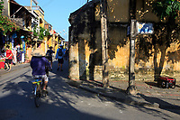 The streets of the old town of Hoi An are closed off to all but pedestrians and bicycles.