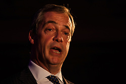 Methodist Central Hall, Westminster, March 17th 2015. Members of various housing groups from across the UK arrive at the Methodist Central Hall in London for the Homes for Britain Rally, which is aimed at highlighting the current housing crisis which affects low income workers, especially in London where rents and house prices are now well beyond their reach. PICTURED: UKIP leader Nigel Farage addresses the rally.