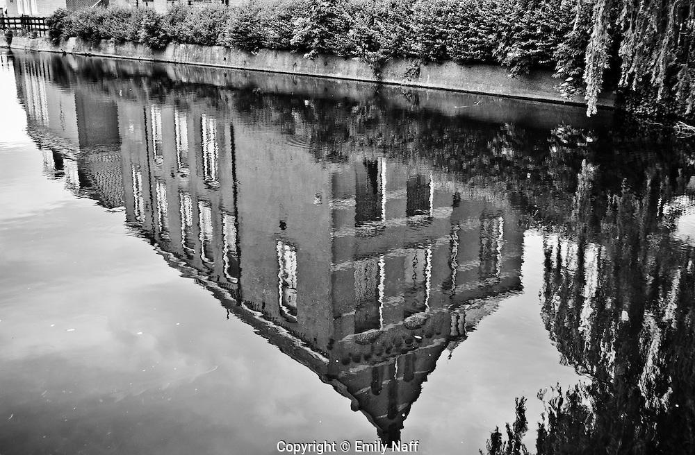 Reflection in Canal, Volendam.