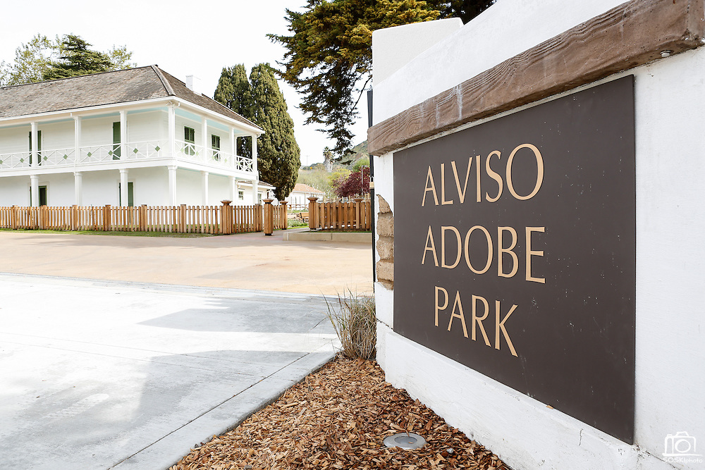 The entrance of Alviso Adobe Park photographed at Alviso Adobe Park in Milpitas, California, on March 19, 2013. (Stan Olszewski/SOSKIphoto)