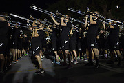 The Marching 110 at the Yell Like Hell Pep Rally on Thursday, October 8, 2015 in the Baker Center parking lot. Photo by Kaitlin Owens
