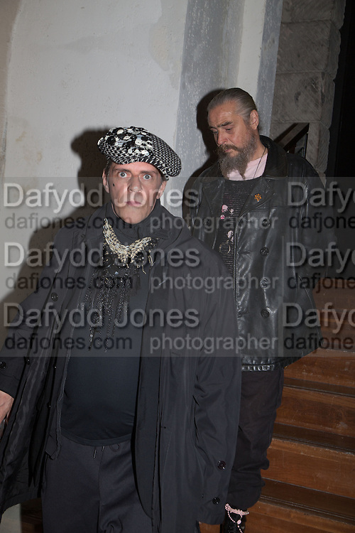 JUDY BLAME; DAVE BABY, Isabella Blow: Fashion Galore! private view, Somerset House. London. 19 November 2013