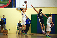 Colchester's Thomas Meadows (21) takes a three point shot during the boys basketball game between the Essex Hornets and the Colchester Lakers at Colchester High School on Tuesday night December 15, 2015 in Colchester. (BRIAN JENKINS/for the FREE PRESS)