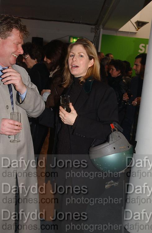 Cathy de Moncheaux. Art 2003 London Art Fair opening. Business Design Centre.  14 January 2003. © Copyright Photograph by Dafydd Jones 66 Stockwell Park Rd. London SW9 0DA Tel 020 7733 0108 www.dafjones.com