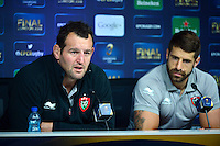 Carl HAYMAN / Sebastien TILLOUS BORDE - 01.05.2015 - Conference de presse Toulon avant la finale - European Rugby Champions Cup -Twickenham -Londres<br /> Photo : David Winter / Icon Sport