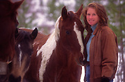 Woman with horse<br />