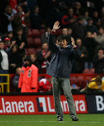 London, England - Saturday, January 13, 2007: Charlton Athletic's new signing Zheng Zhi is presented to the crowd at half time against Middlesbrough during the Premiership match at the Valley. (Pic by Chris Ratcliffe/Propaganda)