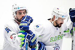 Disappointment of Matic Podlipnik of Slovenia and Klemen Pretnar of Slovenia during ice hockey match between Belarus and Slovenia at IIHF World Championship DIV. I Group A Kazakhstan 2019, on May 2, 2019 in Barys Arena, Nur-Sultan, Kazakhstan. Photo by Matic Klansek Velej / Sportida
