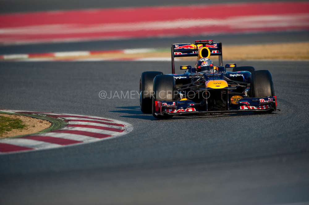 Sebastian Vettel (GER) drives the Red Bull Racing RB8  Formula One Testing, Circuit de Catalunya, Barcelona, Spain, World Copyright: Jamey Price
