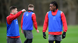 Lincoln City's Jack Payne, left, with team-mate Akeem Hinds during a training session at the BMW Soper of Lincoln Elite Performance Centre, Scampton, Lincolnshire.<br /> <br /> Picture: Chris Vaughan Photography for Lincoln City FC<br /> Date: February 4, 2020