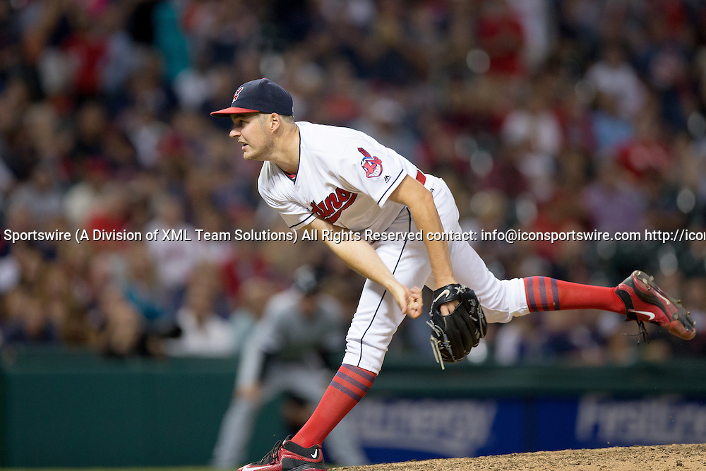 23 September 2016:  Cleveland Indians Starting pitcher Trevor Bauer (47) [8823] delivers a pitch to the plate during the eighth inning of the Major League Baseball game between the Chicago White Sox and Cleveland Indians at Progressive Field in Cleveland, OH. Cleveland defeated Chicago 10-4. (Photo by Frank Jansky/Icon Sportswire)