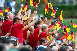 Deutsche Teilnehmer und Offizielle<br /> Tryon - FEI World Equestrian Games™ 2018<br /> Eröffnungsfeier<br /> 11. September 2018<br /> © www.sportfotos-lafrentz.de/Stefan Lafrentz