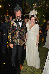 EVGENY LEBEDEV and ANNA FRIEL at The Animal Ball presented by Elephant Family held at Victoria House, Bloomsbury Square, London on 22nd November 2016.