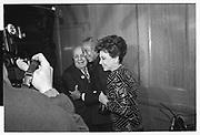 Joey Adams, ( Mayor? ) David Dinkins, Cindy Adams, , Joey Adams party. New York. 7/1/90.
