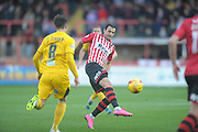 Alex Nicholls during the Sky Bet League 2 match between Exeter City and Bristol Rovers at St James' Park, Exeter, England on 28 November 2015. Photo by Graham Hunt.