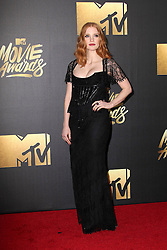 Jessica Chastain, at the 2016 MTV Movie Awards, Warner Bros. Studios, Burbank, CA 04-09-16. EXPA Pictures © 2016, PhotoCredit: EXPA/ Photoshot/ Martin Sloan<br /> <br /> *****ATTENTION - for AUT, SLO, CRO, SRB, BIH, MAZ, SUI only*****