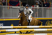 MICHAEL JUNG (GER) rides Cruising Guy in the Horseware Indoor Eventing Challenge at The Royal Horse Show in Toronto, Ontario.