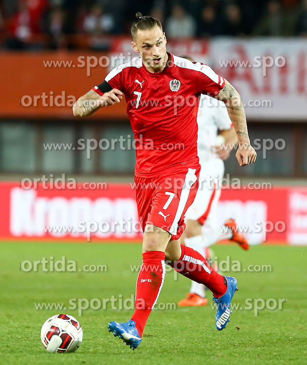 17.11.2015, Ernst Happel Stadion, Wien, AUT, Testspiel, Österreich vs Schweiz, im Bild Marko Arnautovic (AUT) // Marko Arnautovic (AUT) during the International Friendly Football Match between Austria and Switzerland at the Ernst Happel Stadion in Wien, Austria on 2015/11/17. EXPA Pictures © 2015, PhotoCredit: EXPA/ Alexander Forst
