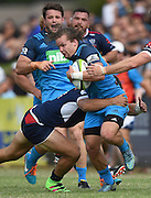 Michael Little during a pre season Super Rugby match. Blues v Storm, Pakuranga Rugby Club, Auckland, New Zealand. Thursday 4 February 2016. Copyright Photo: Andrew Cornaga / www.Photosport.nz