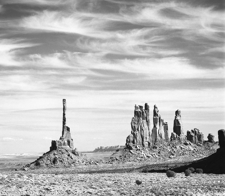 Totem Pole and Yei Bi Chai, Monument Valley, Navajo Nation