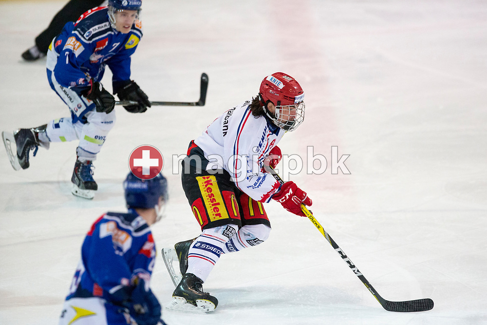 Rapperswil-Jona Lakers forward Kyen Sopa is pictured during the fourth Elite B Playoff Final ice hockey game between ZSC Lions and Rapperswil-Jona Lakers in Duebendorf, Switzerland, Friday, Mar. 17, 2017. (Photo by Patrick B. Kraemer / MAGICPBK)