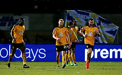 Cambridge United players look frustrated after conceding a goal - Mandatory by-line: Robbie Stephenson/JMP - 09/01/2017 - FOOTBALL - Cambs Glass Stadium - Cambridge, England - Cambridge United v Leeds United - FA Cup third round
