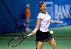 Maria Elena Camerin of Italy at 1st Round of Singles at Banka Koper Slovenia Open WTA Tour tennis tournament, on July 20, 2010 in Portoroz / Portorose, Slovenia. (Photo by Vid Ponikvar / Sportida)