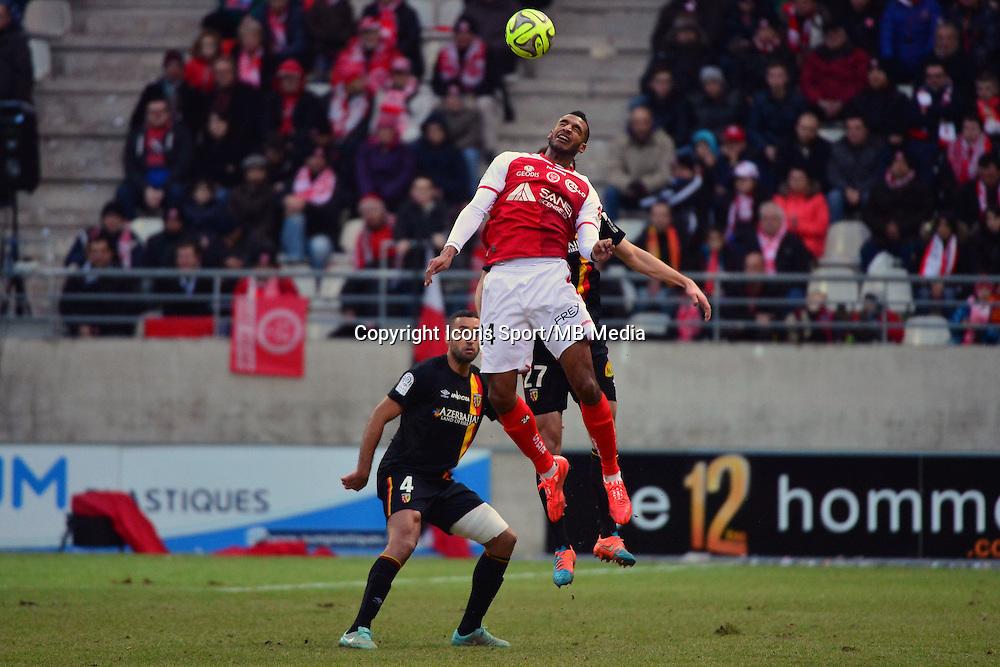 David NGOG / Benjamin BOULENGER  - 25.01.2015 - Reims / Lens  - 22eme journee de Ligue1<br />Photo : Dave Winter / Icon Sport