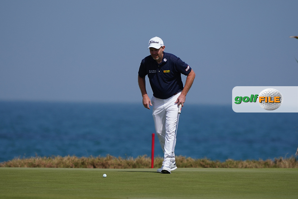 Stephen Gallacher (SCO) on the 9th during Round 3 of the Oman Open 2020 at the Al Mouj Golf Club, Muscat, Oman . 29/02/2020<br /> Picture: Golffile | Thos Caffrey<br /> <br /> <br /> All photo usage must carry mandatory copyright credit (© Golffile | Thos Caffrey)
