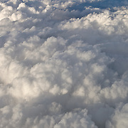 Cloud View from airplane window. Mexico city, Mexico.