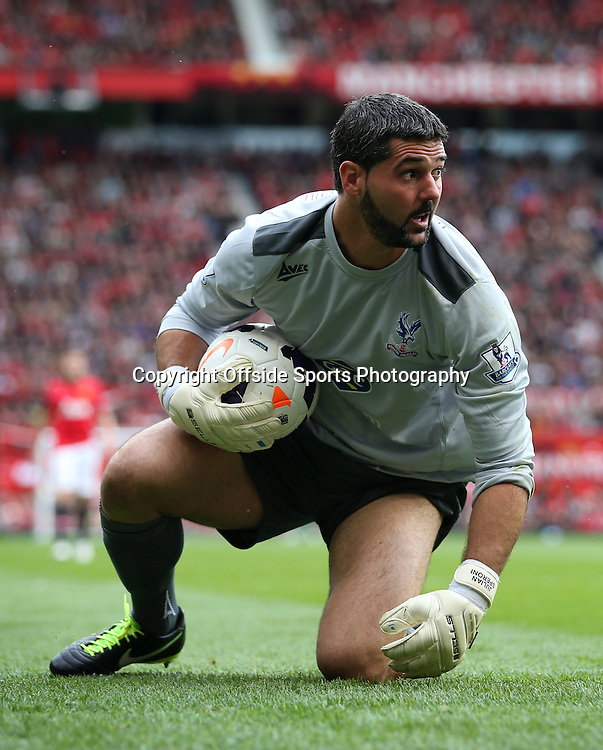 14th September 2013 - Barclays Premier League - Manchester United v Crystal Palace - Palace goalkeeper Julian Speroni - Photo: Simon Stacpoole / Offside.