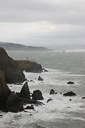 """Point Bonita Lighthouse"" - This lighthouse and coastal scene was photographed near the Golden Gate Bridge in San Francisco."