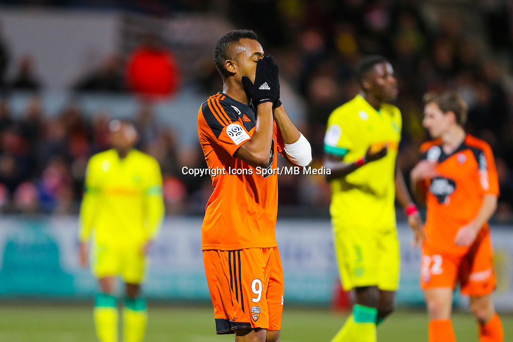 Deception Jordan AYEW  - 20.12.2014 - Lorient / Nantes - 19eme journee de Ligue 1 -<br /> Photo : Vincent Michel / Icon Sport