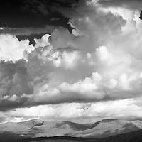 Cumulus clouds over Achallader, Highlands, Scotland