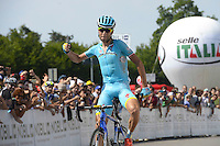 Victoire Vincenzo Nibali - 27.06.2015 - Championnat d'Italie 2015 -Turin<br />Photo : Sirotti / Icon Sport