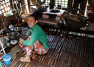 A farmers home  along the Mekong River in Vietnam<br /> <br />  photo by Dennis Brack