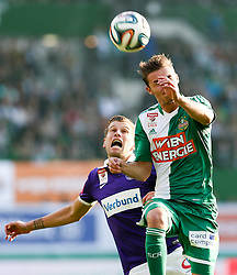 09.11.2014, Ernst Happel Stadion, Wien, AUT, 1. FBL, SK Rapid Wien vs FK Austria Wien, 15. Runde, im Bild Alexander Gruenwald (FK Austria Wien) und Mario Pavelic (SK Rapid Wien) // during a Austrian Football Bundesliga Match, 15th Round, between SK Rapid Vienna and FK Austria Vienna at the Ernst Happel Stadion, Wien, Austria on 2014/11/09. EXPA Pictures © 2014, PhotoCredit: EXPA/ Alexander Forst