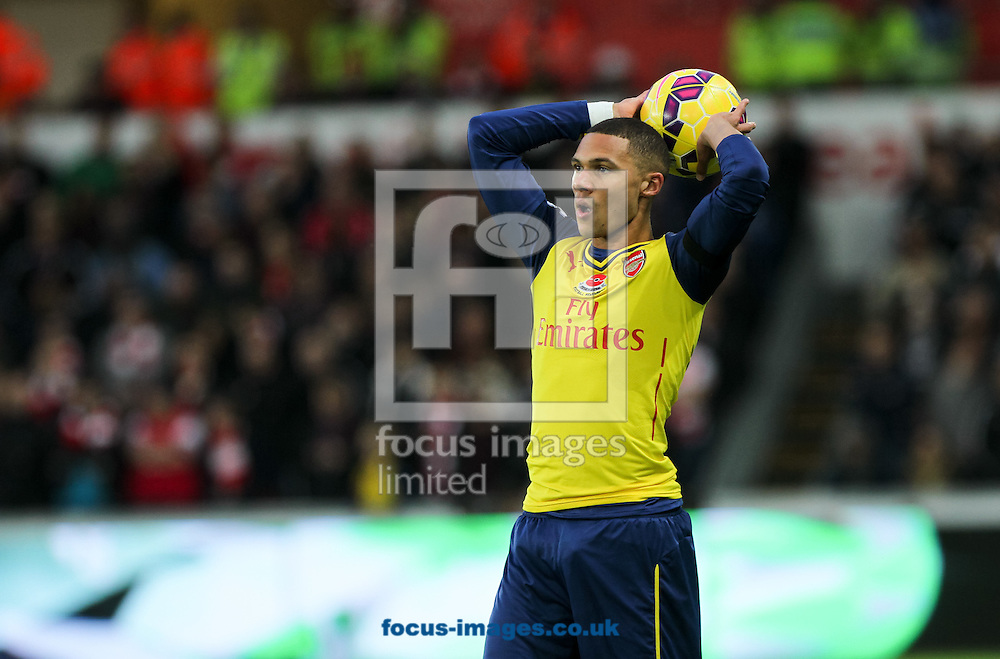 Kieran Gibbs of Arsenal throws the ball in during the Barclays Premier League match at the Liberty Stadium, Swansea<br /> Picture by Tom Smith/Focus Images Ltd 07545141164<br /> 09/11/2014