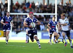 Bristol Rugby's James Merriman - Photo mandatory by-line: Joe Meredith/JMP - Tel: Mobile: 07966 386802 06/10/2013 - SPORT - FOOTBALL - RUGBY UNION - Memorial Stadium - Bristol - Bristol Rugby V Bedford Blues - The Championship
