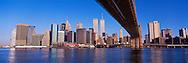 Brooklyn Bridge and Lower Manhattan Skyline, New York City, New York, designed by John Augustus Roebling